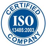 ISO 13485:2003 Certified