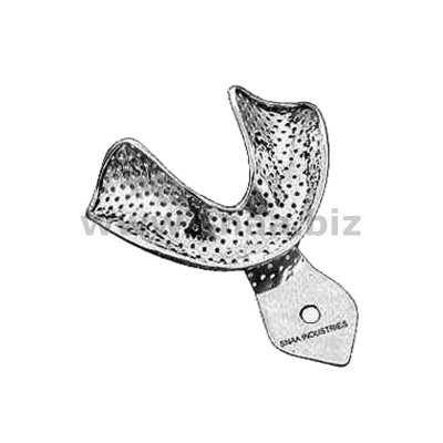 Impression Tray, Perforated Full Denture, Lower, XL