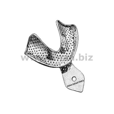 Impression Tray, Perforated Full Denture, Lower, S