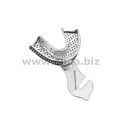 Impression Tray, Perforated Full Denture, Lower, L0