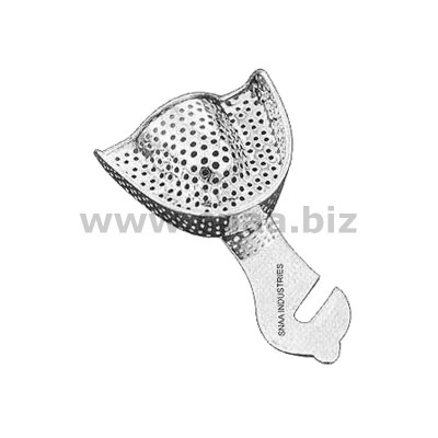 Impression Tray, Perforated Full Denture, Upper, U1