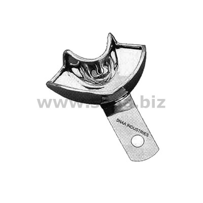 Impression Tray for Crown and Bridge Work, Solid, Lower, L1P