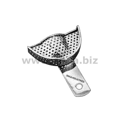 Impression Tray for Crown and Bridge Work, Perforated, Upper, U1P